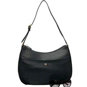 Etienne aigner black classic hobo leather bag